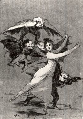 Francisco de Goya y Lucientes (Spanish, 1746-1828). You Will Not Escape (No te escarparas), 1797-1798. Etching and aquatint on laid paper, Sheet: 11 7/8 x 7 15/16 in. (30.2 x 20.2 cm). Brooklyn Museum, A. Augustus Healy Fund, Frank L. Babbott Fund, and Carll H. de Silver Fund, 37.33.72