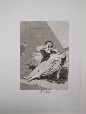 Francisco de Goya y Lucientes (Spanish, 1746-1828). Tantalus (Tantalo), 1797-1798. Etching and aquatint on laid paper, Sheet (Uneven): 11 7/8 x 7 15/16 in. (30.2 x 20.2 cm). Brooklyn Museum, A. Augustus Healy Fund, Frank L. Babbott Fund, and Carll H. de Silver Fund, 37.33.9