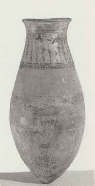 Large Jar. Pottery, painted, 15 7/16 x Diam. 6 15/16 in. (39.2 x 17.6 cm). Brooklyn Museum, Charles Edwin Wilbour Fund, 37.352E. Creative Commons-BY