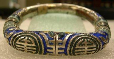 Bracelet, 19th century. silver, enamel, 3 1/4 x 2 15/16 in. (8.3 x 7.5 cm). Brooklyn Museum, Frank L. Babbott Fund, 37.371.134. Creative Commons-BY