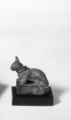 Weight in Form of a Cat, 305–30 B.C.E. Bronze, silver, lead, 2 1/4 x 1 1/8 x 2 3/8 in., 0.6 lb. (5.7 x 2.9 x 6 cm, 257.52 g). Brooklyn Museum, Charles Edwin Wilbour Fund, 37.424E. Creative Commons-BY