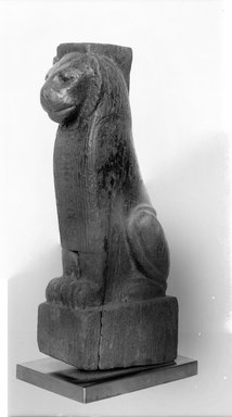 Nubian. Lion-Shaped Furniture Leg, ca. 690-664 B.C.E. Wood, 13 7/8 x 3 9/16 x 5 1/2 in. (35.3 x 9 x 14 cm). Brooklyn Museum, Charles Edwin Wilbour Fund, 37.42E. Creative Commons-BY