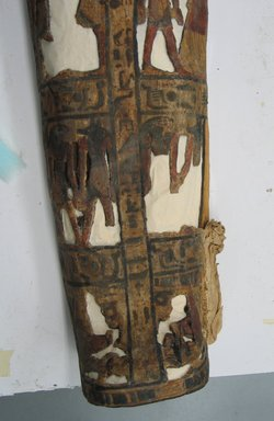 Coffin of the Lady of the House, Weretwahset, Reinscribed for Bensuipet Containing Face Mask and Openwork Body Covering