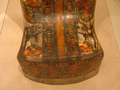 Egyptian. Mummy and Cartonnage of Hor, ca. 712-664 B.C.E. Linen, painted and gessoed, 69 1/2 x 18 x 13 in. (176.5 x 45.7 x 33 cm). Brooklyn Museum, Charles Edwin Wilbour Fund, 37.50E. Creative Commons-BY