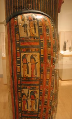Egyptian. Mummy and Cartonnage of Hor, ca. 712-664 B.C.E. Linen, paint, gesso, 69 1/2 x 18 x 13 in. (176.5 x 45.7 x 33 cm). Brooklyn Museum, Charles Edwin Wilbour Fund, 37.50E. Creative Commons-BY