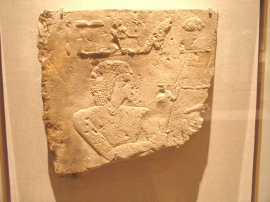 Relief of Khaemwaset, ca. 1279-1213 B.C.E. Limestone, 12 13/16 x 12 9/16 x 2 in. (32.6 x 31.9 x 5.1 cm). Brooklyn Museum, Charles Edwin Wilbour Fund, 37.513. Creative Commons-BY