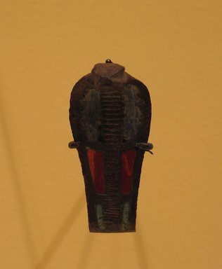 Uraeus. Bronze, inlaid glass, 2 1/8 x 1 x 2 in. (5.4 x 2.5 x 5.1 cm). Brooklyn Museum, Charles Edwin Wilbour Fund, 37.550E. Creative Commons-BY