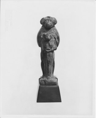 Small Figure of a Cynocephalus Preceded by a Figure of Sekhmet. Serpentine, 2 9/16 x 7/8 x 1 1/4 in. (6.5 x 2.3 x 3.2 cm). Brooklyn Museum, Charles Edwin Wilbour Fund, 37.592E. Creative Commons-BY
