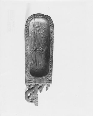 Toilet Spoon in the Form of a Cartouche, ca. 1539–1292 B.C.E. Wood, 9/16 x 1 15/16 x 6 1/4 in. (1.4 x 5 x 15.9 cm). Brooklyn Museum, Charles Edwin Wilbour Fund, 37.614E. Creative Commons-BY