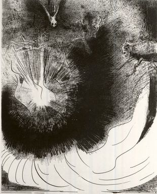 Odilon Redon (French, 1840-1916). Apocalypse de Saint-Jean, 1899. Lithograph on China paper laid down, 11 15/16 x 9 3/16 in. (30.3 x 23.3 cm). Brooklyn Museum, By exchange, 37.7.6