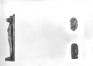 Signet Ring Bearing Cartouche of Tutankhamun, ca. 1329-1322 B.C.E. Faience, 13/16 x 1/2 x 3/4 in. (2 x 1.2 x 1.9 cm). Brooklyn Museum, Charles Edwin Wilbour Fund, 37.889E. Creative Commons-BY