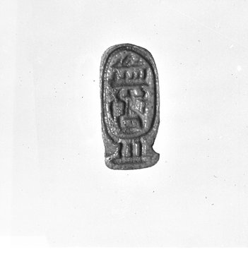 Finger Ring with Cartouche of Thutmose III. Faience, Height: 13/16 in. (2.1 cm). Brooklyn Museum, Charles Edwin Wilbour Fund, 37.890E. Creative Commons-BY