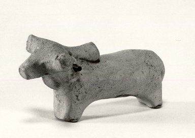 Harappa. Small Model of Bullock or Humped Ox, 3000-2500 B.C. Reddish pottery, 1 3/4 x 1 3/16 x 3 9/16 in. (4.5 x 3 x 9 cm). Brooklyn Museum, A. Augustus Healy Fund, 37.96. Creative Commons-BY