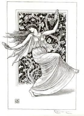 Walter T. Crane (British, 1845-1915). Danseuse aux cymbales, 1894. Lithograph on laid paper, Image: 17 x 11 5/8 in. (43.2 x 29.5 cm). Brooklyn Museum, Charles Stewart Smith Memorial Fund, 38.417