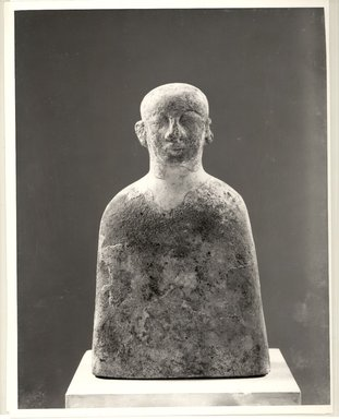 Nubian. Funerary Bust of Male. Sandstone, remains of gesso, paint, 10 7/8 x 6 7/16 x 2 7/8 in. (27.7 x 16.3 x 7.3 cm). Brooklyn Museum, Gift of the Egypt Exploration Society, 38.545. Creative Commons-BY