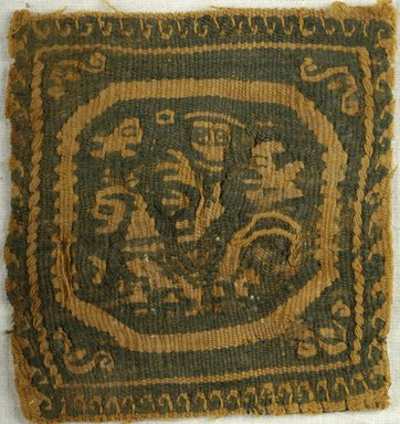 Coptic. Textile, 6th-7th century C.E. Wool, 3 1/2 x 3 1/4 in. (8.9 x 8.3 cm). Brooklyn Museum, Charles Edwin Wilbour Fund, 38.652. Creative Commons-BY