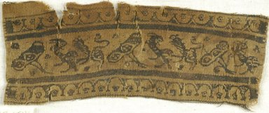 Coptic. Textile Fragment, 7th century C.E. Linen, wool, 2 1/2 x 8 in. (6.4 x 20.3 cm). Brooklyn Museum, Charles Edwin Wilbour Fund, 38.654. Creative Commons-BY