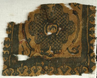 Coptic. Two  Textile Fragments, 6th-7th century C.E. Wool, 38.659a: 4 1/2 x 3 1/2 in. (11.4 x 8.9 cm). Brooklyn Museum, Charles Edwin Wilbour Fund, 38.659a-b. Creative Commons-BY