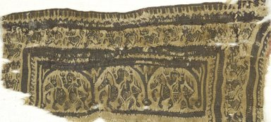 Coptic. Tunic Fragment, 6th-7th century C.E. Wool, 5 1/4 x 11 3/8 in. (13.3 x 28.9 cm). Brooklyn Museum, Charles Edwin Wilbour Fund, 38.660. Creative Commons-BY