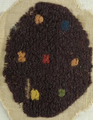 Coptic. Textile Fragment, 5th-6th century C.E. Flax, wool, 7 x 8 in. (17.8 x 20.3 cm). Brooklyn Museum, Charles Edwin Wilbour Fund, 38.662. Creative Commons-BY