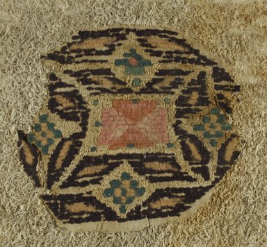 Coptic. Textile, 5th-6th century C.E. Flax, wool, 11 3/4 x 12 1/2 in. (29.8 x 31.8 cm). Brooklyn Museum, Charles Edwin Wilbour Fund, 38.663. Creative Commons-BY
