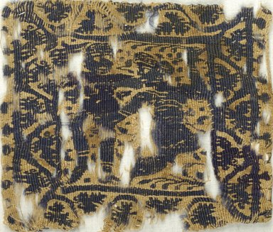 Coptic. Textile, 5th-6th century C.E. Flax, wool, 4 1/2 x 5 1/4 in. (11.4 x 13.3 cm). Brooklyn Museum, Charles Edwin Wilbour Fund, 38.675. Creative Commons-BY