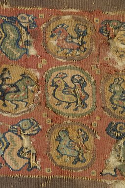 Coptic. Textile, 6th-7th century C.E. Flax, wool, 7 1/4 x 7 in. (18.4 x 17.8 cm). Brooklyn Museum, Charles Edwin Wilbour Fund, 38.677. Creative Commons-BY