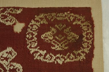 Coptic. Textile, 6th century C.E. Flax, wool, 15 1/2 x 9 3/4 in. (39.4 x 24.8 cm). Brooklyn Museum, Charles Edwin Wilbour Fund, 38.680. Creative Commons-BY