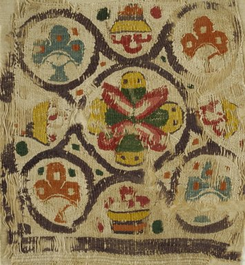 Coptic. Textile, 6th century C.E. Flax, wool, 10 x 11 in. (25.4 x 27.9 cm). Brooklyn Museum, Charles Edwin Wilbour Fund, 38.682. Creative Commons-BY
