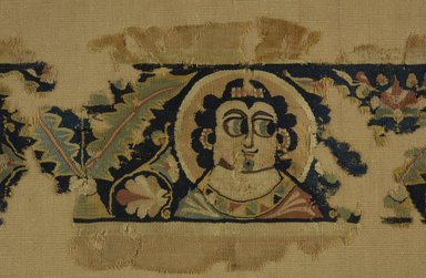 Coptic. Border with Portrait Heads, 5th - 6th century C.E. Wool, 7 3/4 x 25 1/4 in. (19.7 x 64.1 cm). Brooklyn Museum, Charles Edwin Wilbour Fund, 38.684. Creative Commons-BY