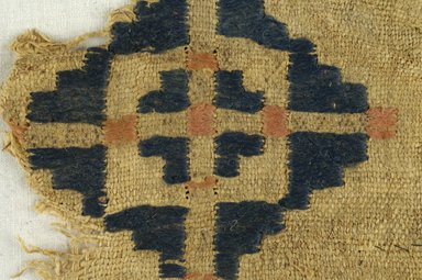 Coptic. Textile, 6th century C.E. Flax, wool, 5 x 5 in. (12.7 x 12.7 cm). Brooklyn Museum, Charles Edwin Wilbour Fund, 38.689. Creative Commons-BY