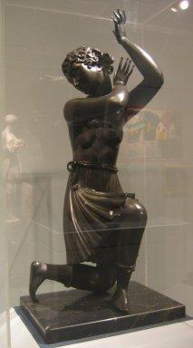 Elie Nadelman (American, 1882-1946). Dancing Figure, ca. 1916-1918. Bronze with stone base, Height: 29 7/8 in.  (75.9 cm). Brooklyn Museum, Gift of Sam Lewisohn, 38.693. Creative Commons-BY