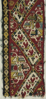 Coptic. Textile, 7th century C.E. Flax?, wool, 14 3/4 x 4 1/4 in. (37.5 x 10.8 cm). Brooklyn Museum, Charles Edwin Wilbour Fund, 38.750. Creative Commons-BY