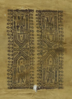Coptic. Textile, 6th-7th century C.E. Wool, 8 1/2 x 11 in. (21.6 x 27.9 cm). Brooklyn Museum, Charles Edwin Wilbour Fund, 38.752. Creative Commons-BY