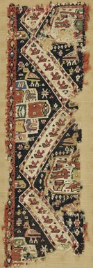Coptic. Textile, 9th-10th century C.E. Wool, linen, 5 5/16 x 16 15/16 in. (13.5 x 43 cm). Brooklyn Museum, Charles Edwin Wilbour Fund, 38.754. Creative Commons-BY