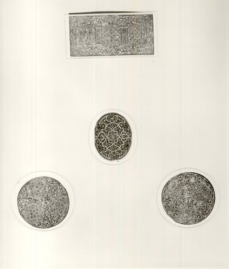 Jean? Gourmont. Ornamental Oval. Woodcut Brooklyn Museum, 38.967