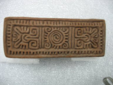 Possibly Aztec. Stamp, 1000-1500. Ceramic, 4 1/4 x 2 1/8 x 1 5/8 in. (10.8 x 5.4 x 4.1 cm). Brooklyn Museum, Ella C. Woodward Memorial Fund, 39.123.14. Creative Commons-BY