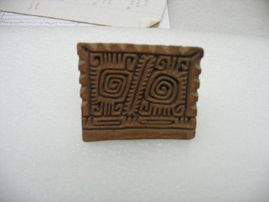 Possibly Aztec. Stamp, 1000-1500. Ceramic, 2 1/8 x 1 7/8 x 2 1/2 in. (5.4 x 4.8 x 6.4 cm). Brooklyn Museum, Ella C. Woodward Memorial Fund, 39.123.18. Creative Commons-BY