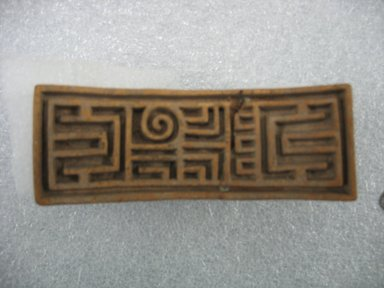Aztec. Stamp, ca. 1500. Ceramic, 4 3/8 x 1 1/2 x 1 7/8 in. (11.1 x 3.8 x 4.8 cm). Brooklyn Museum, Ella C. Woodward Memorial Fund, 39.123.34. Creative Commons-BY