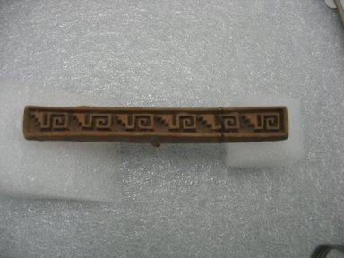 Mixtec. Stamp, 1000-1500. Ceramic, 1/2 x 1 1/2 x 4 1/2 in. (1.3 x 3.8 x 11.4 cm). Brooklyn Museum, Ella C. Woodward Memorial Fund, 39.123.58. Creative Commons-BY