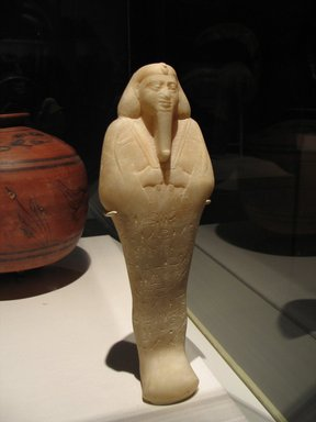 Nubian. Ushabti of King Taharqa, ca. 1075-656 B.C.E. Alabaster, 13 1/8 x 4 3/16 x depth at base 2 7/16 in. (33.3 x 10.7 x 6.2 cm). Brooklyn Museum, By exchange, 39.4. Creative Commons-BY