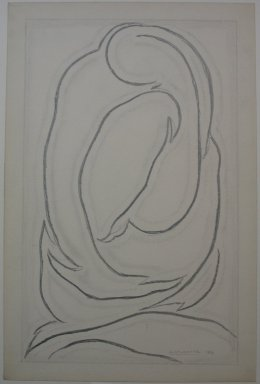 Abraham Walkowitz (American, born Siberia, 1878-1965). Abstract Figures, 1913. Graphite on paper, Sheet: 18 5/8 x 12 1/4 in. (47.3 x 31.1 cm). Brooklyn Museum, Gift of the artist, 39.650