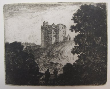 John Clerk of Eldin (British, 1728-1812). Crichton Castle, n.d. Etching and drypoint on laid paper, 3 1/8 x 3 15/16 in. (8 x 10 cm). Brooklyn Museum, Gift of James K. Callaghan, 39.75