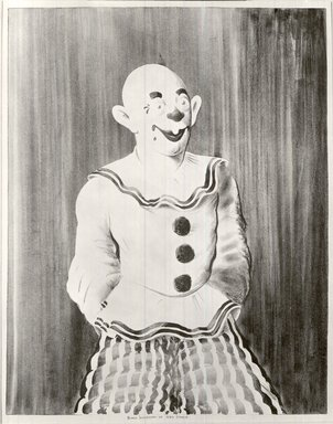 Russell T. Limbach (American, 1904-1971). Clown, 1938. Lithograph, red stone printed in black on wove paper, 17 15/16 x 13 15/16 in. (45.6 x 35.4 cm). Brooklyn Museum, Dick S. Ramsay Fund, 39.8.5