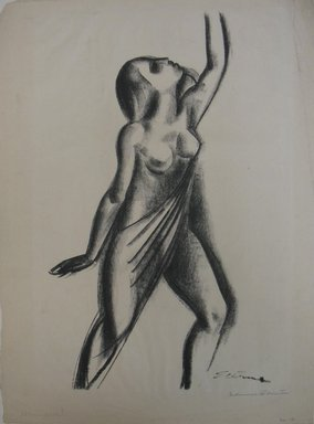 Maurice Sterne (American, born Latvia, 1877-1957). Dancer, n.d. Lithograph on white wove paper, Sheet: 18 1/16 x 13 1/4 in. (45.9 x 33.7 cm). Brooklyn Museum, Gift of Elizabeth Riefstahl, 40.375