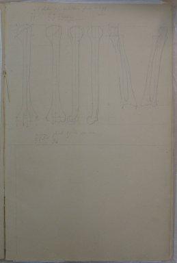 Eastman Johnson (American, 1824-1906). Anatomy Sketchbook, 1849. Graphite on beige, medium weight, slightly textured laid paper, Sketchbook: 17 1/8 x 11 1/16 x 3/8 in. (43.5 x 28.1 x 1 cm). Brooklyn Museum, Gift of Albert Duveen, 40.61