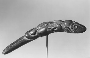 Rapanui. Lizard Figure (Moko Miro), 19th century. Wood, 15 3/4 x 3 x 2 in. (40 x 7.6 x 5.1 cm). Brooklyn Museum, Museum Expedition 1941, Frank L. Babbott Fund, 41.1277. Creative Commons-BY