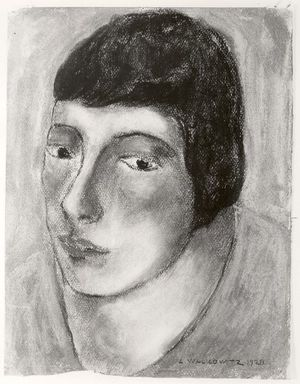 Abraham Walkowitz (American, born Russia, 1878-1965). Woman's Head #16, 1928. Pastel on paper, 12 1/2 x 9 1/2 in. (31.8 x 24.1 cm). Brooklyn Museum, Gift of the artist, 41.174