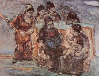 Max Weber (American, born Russia, 1881-1961). Music, 1940. Oil on canvas, 28 x 36 1/4 in. (71.1 x 92.1 cm). Brooklyn Museum, John B. Woodward Memorial Fund, 41.391