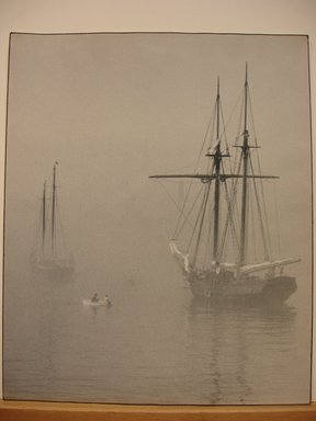 Gottlieb  A. Hampfler (American). Foggy Morning. Photograph, 14 x 17 in. (35.6 x 43.2 cm). Brooklyn Museum, Gift of the artist, 41.595. © Estate of Gottlieb A. Hampfler